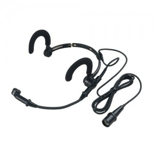 Noise-cancelling Condenser Headworn Microphone, for A-T Wireless System