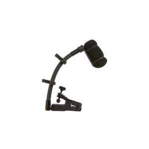 Wireless Cardioid Condenser Instrument Microphone with Universal Clip-on Mounting System