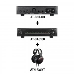 Listening Kit 2 - AT-BHA100 + AT-DAC100 + ATH-AWKT
