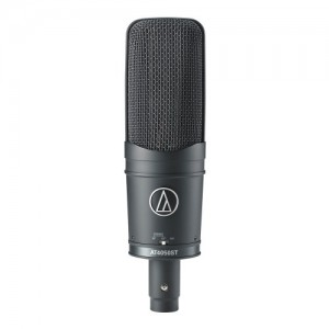 Stereo condenser microphone with shockmount