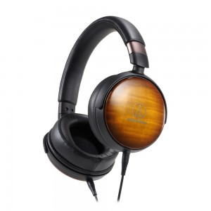 Portable Over-Ear Wooden Headphones